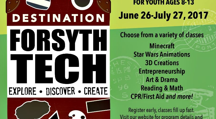 Forsyth Tech Summer Enrichment Program Invitation to NC Homeschoolers